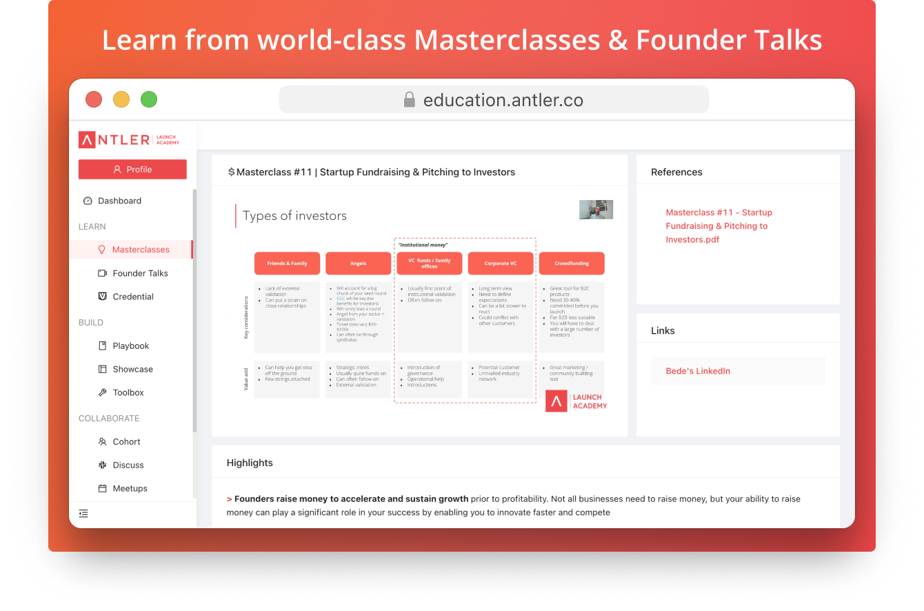 Case Study: The Antler Launch Academy