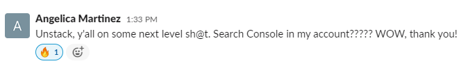 Unstack, y'all are on some next level shit. Search console in my account!