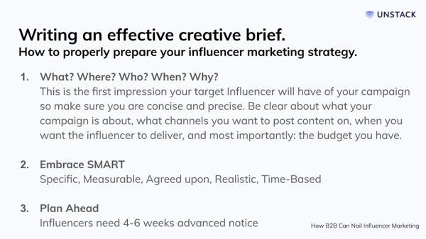 Writing an effective brand brief