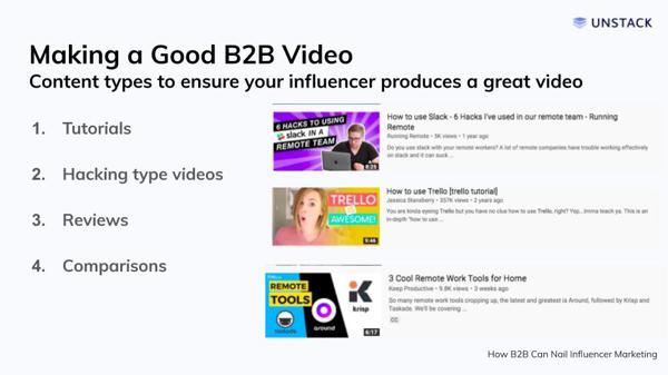 Good Influencer Marketing Video
