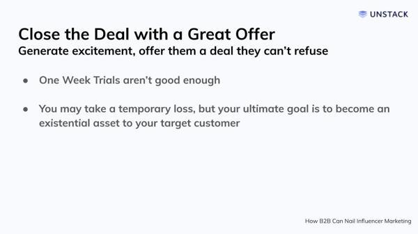 Offer a Good Deal