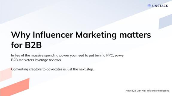 Why Influencer Marketing Matters for B2B