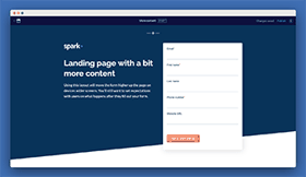 Long form landing page template