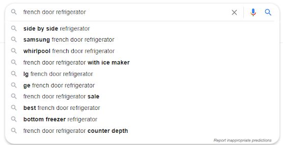 Google autofill suggestions for long-tail keywords