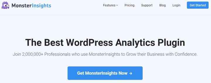 MonsterInsights homepage