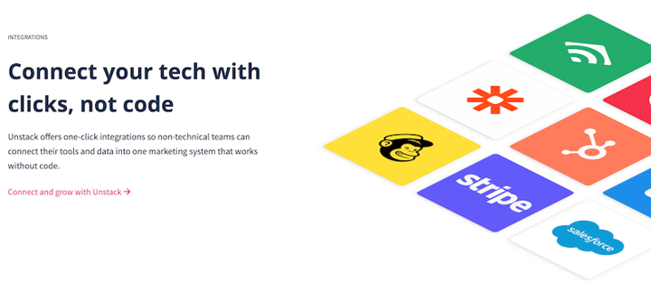 new Unstack homepage with isometric component