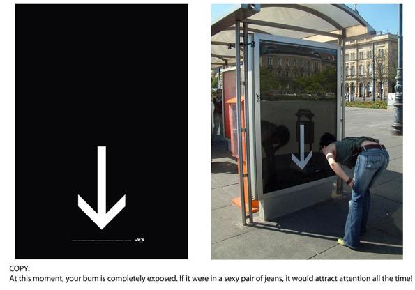 offline branding example bus ad