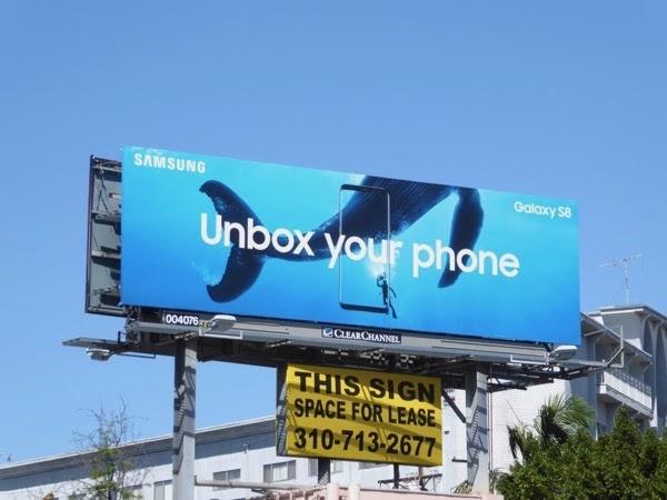 offline branding example billboard from Samsung