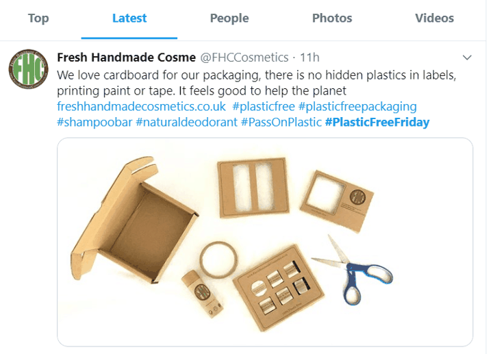 plastic free friday hashtag