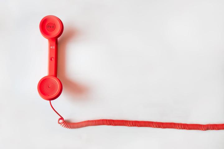 red phone stock photo mistake