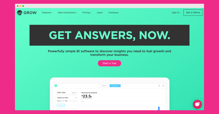 Grow - Our Boldest Site of the Year