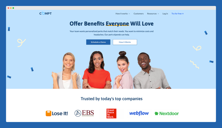 Compt Website - Uses Social Proof