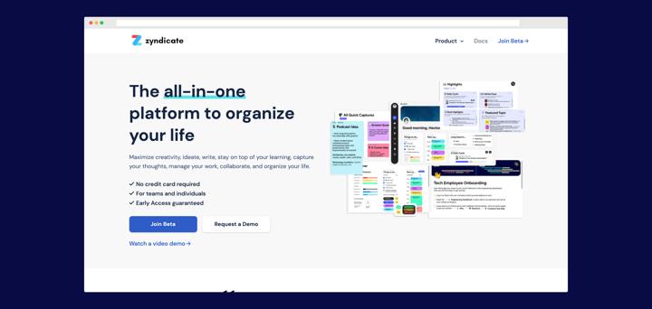 Zyndicate website