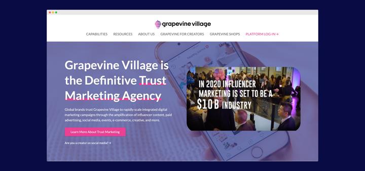 Grapevine Village website