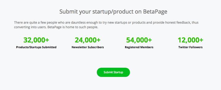 Betapage stats