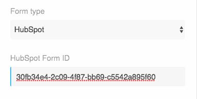 Hubspot form id