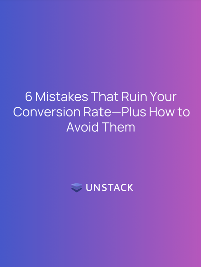 conversion rate mistakes cover sheet