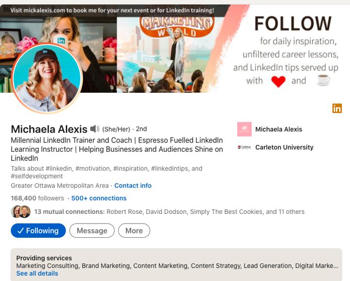 Michaela Alexis on LinkedIn