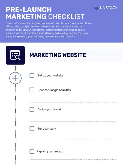 Pre-Launch Marketing Checklist