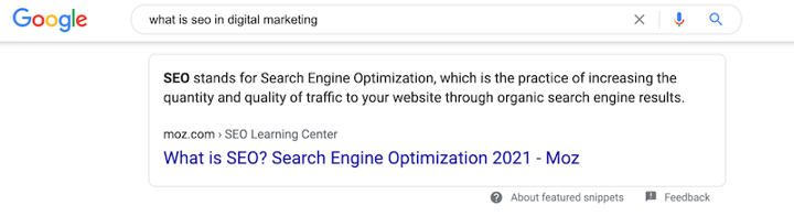 seo trends featured snippet