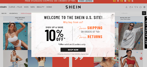 Shein Content Offer