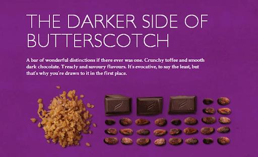 Butterscotch Dark Chocolate Product Description