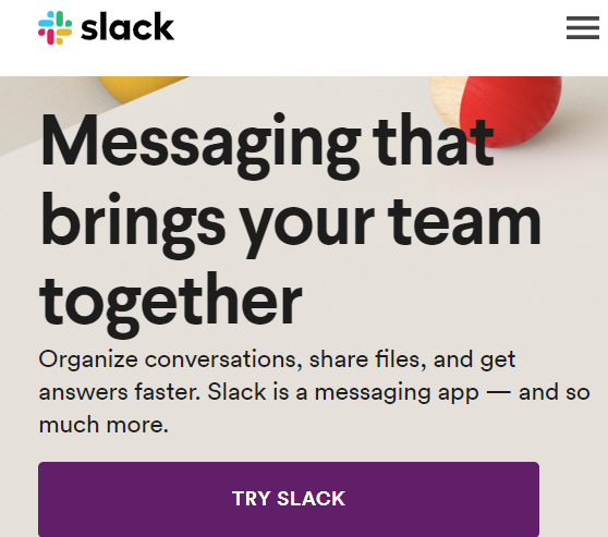 slack supporting subheading