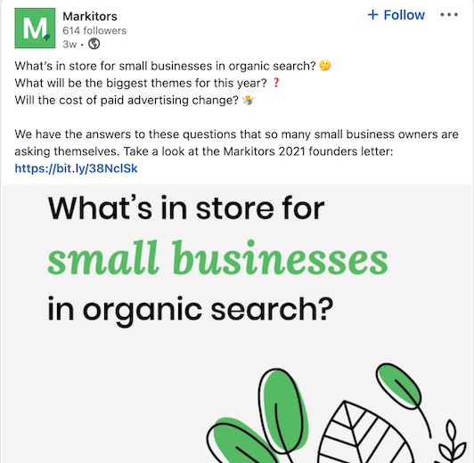 social media campaign example from Markitors