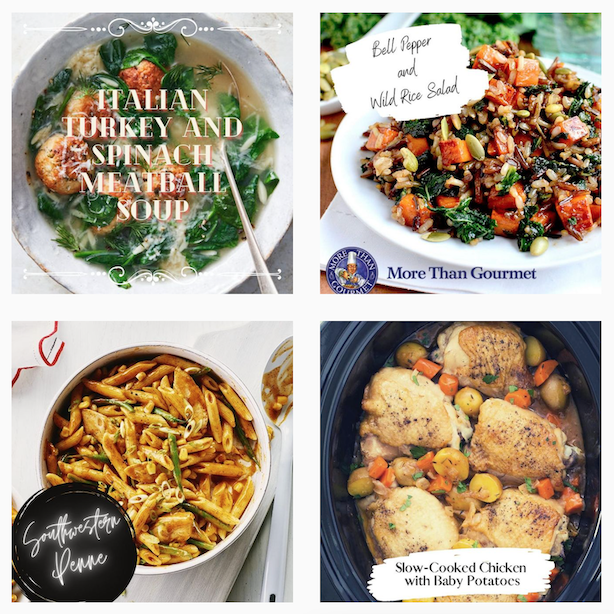 social media campaign example from More Than Gourmet