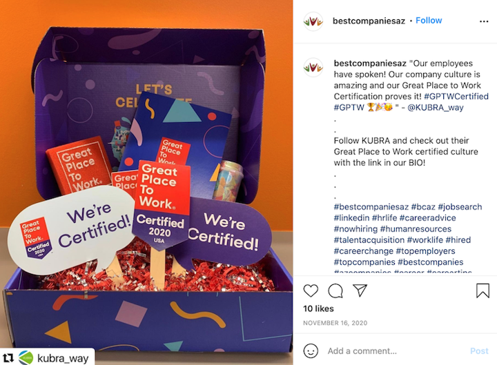 social media campaign example from BCAZ