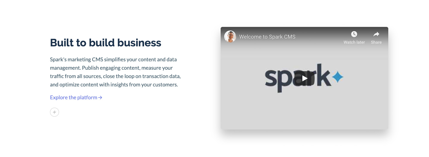 Spark section spacing