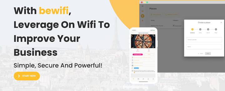 bewifi startup landing page