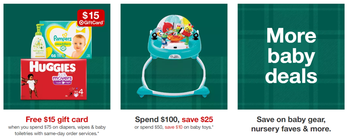 target baby section