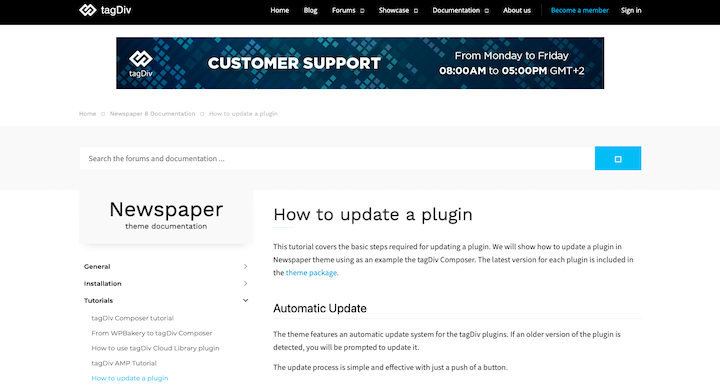 how to update plug in
