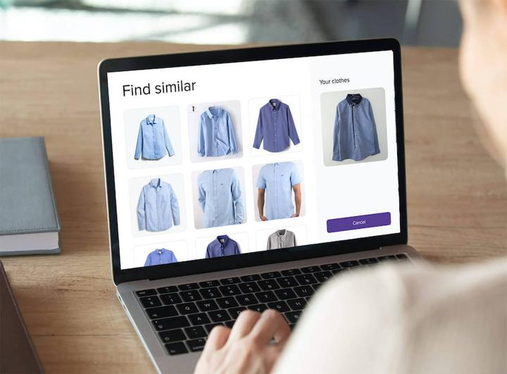 example of image recognition using blue shirts