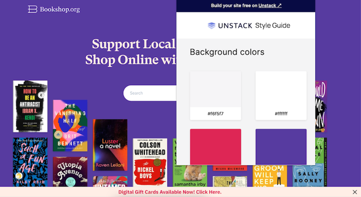 Unstack Style Guide screenshot from Bookshop.org