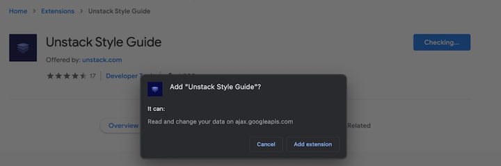Unstack Style Guide confirmation