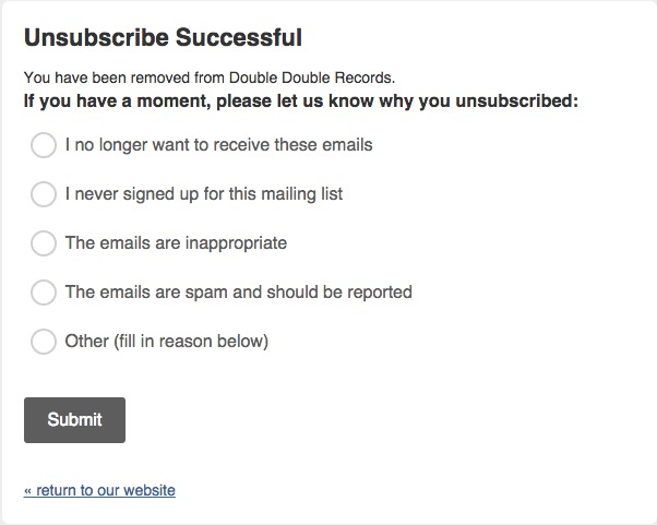 unsubscribe reason survey