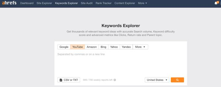 keyword research tool for video seo