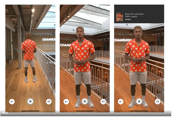 AR web design trend example from ASOS