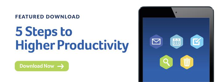 5 Steps to Higher Productivity